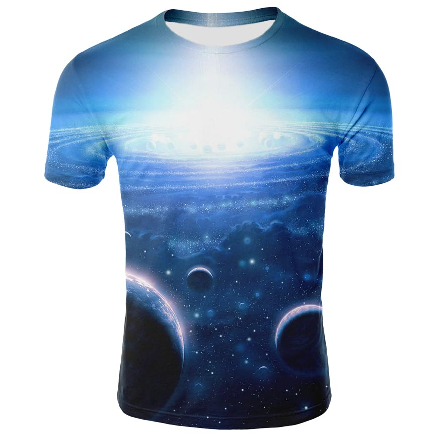 Punk-Style Cloud Boys Kids Brand Tee-Tops Space-Tshirt Short-Sleeve 3d-Print Children