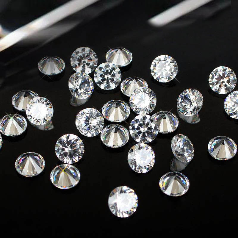 Brilliant Cuts Round Cubic Zirconia Beads Supplies For Jewelry Nail
