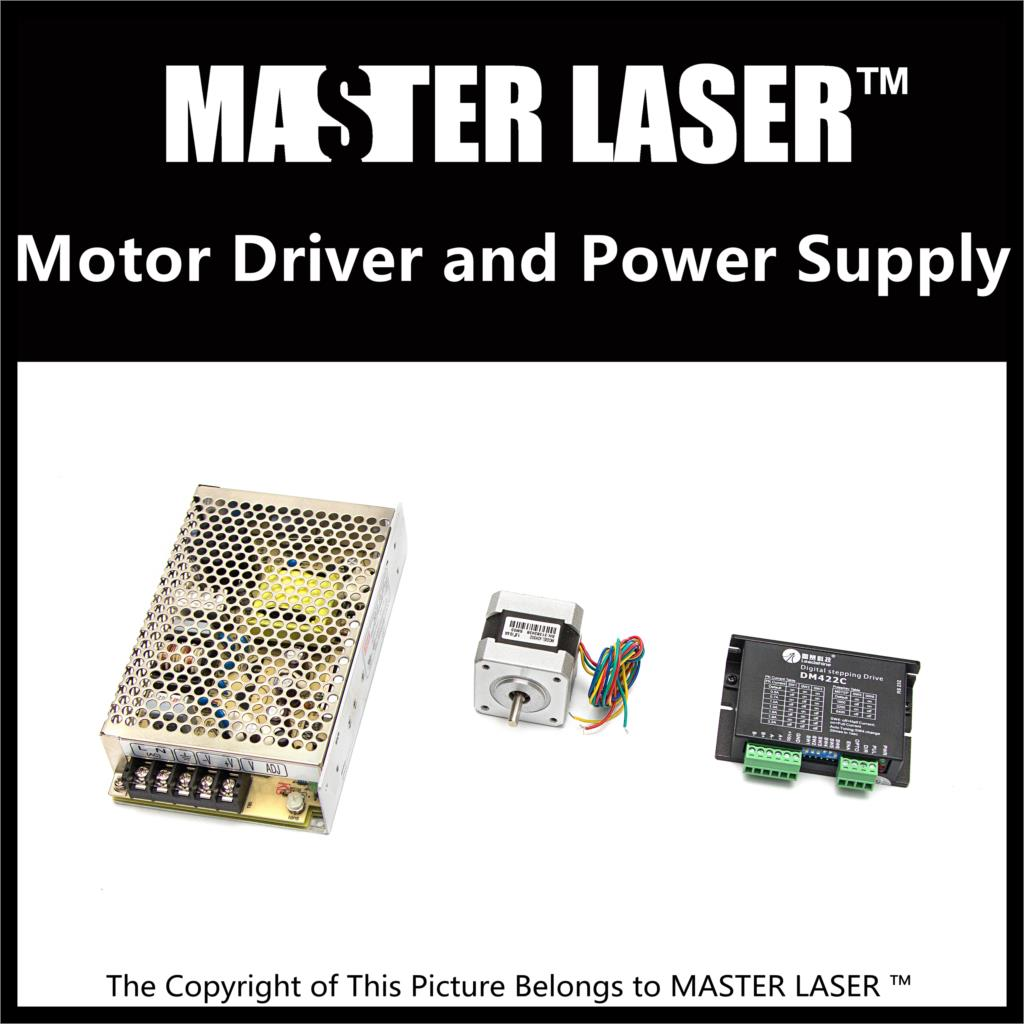 Leadshine Stepping Motor 42HS02 and Motor Driver DM422C for Laser Engraving/Cutting Machine Stepper Motor Power Supply leadshine 2 phase stepping motor drive ma860h for laser engraving cutting machine stepper motor driver