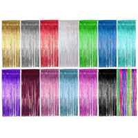 2019 Hot New Shimmering Fringe Tinsel Door Curtains Metallic Foil Photo Backdrop Wedding Birthday Pub Stage Party Decoration