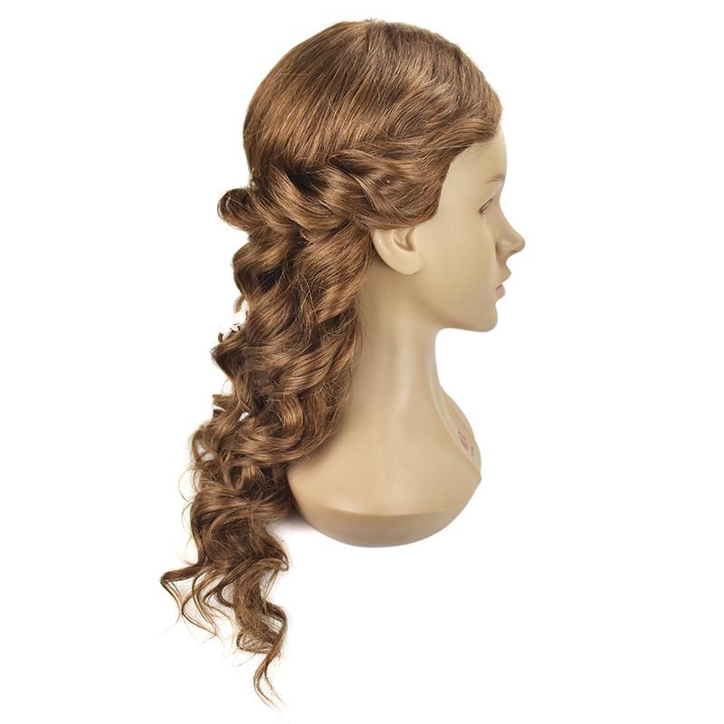 Crno 20Inch frizerske lutke glave ženski frizerski trening glavu s - Njega kose i styling - Foto 5