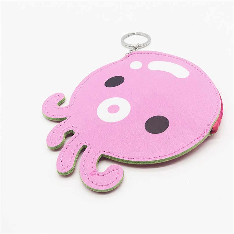 行くたいクラシック動物デザインの子供コイン財布かわいい漫画革小さな財布ジッパーミニ財布ポータブル子供クラッチバッグ