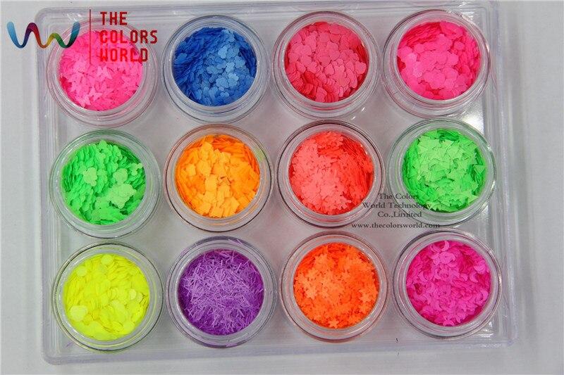 TCT-021 Neon resistente a solventes 12 tipos de colores y 12 tipos de - Arte de uñas - foto 6