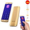 Pantalla táctil del teléfono móvil de la tarjeta de crédito ultrafina v26 ulcool metal cuerpo bluetooth 2.0 mp3 FM del sintonizador dual SIM mini teléfono móvil P001
