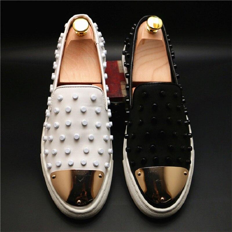 Nouveaux hommes chaussures de luxe marque en cuir véritable chaussures schoenen mannen lederen schoenen mocassins