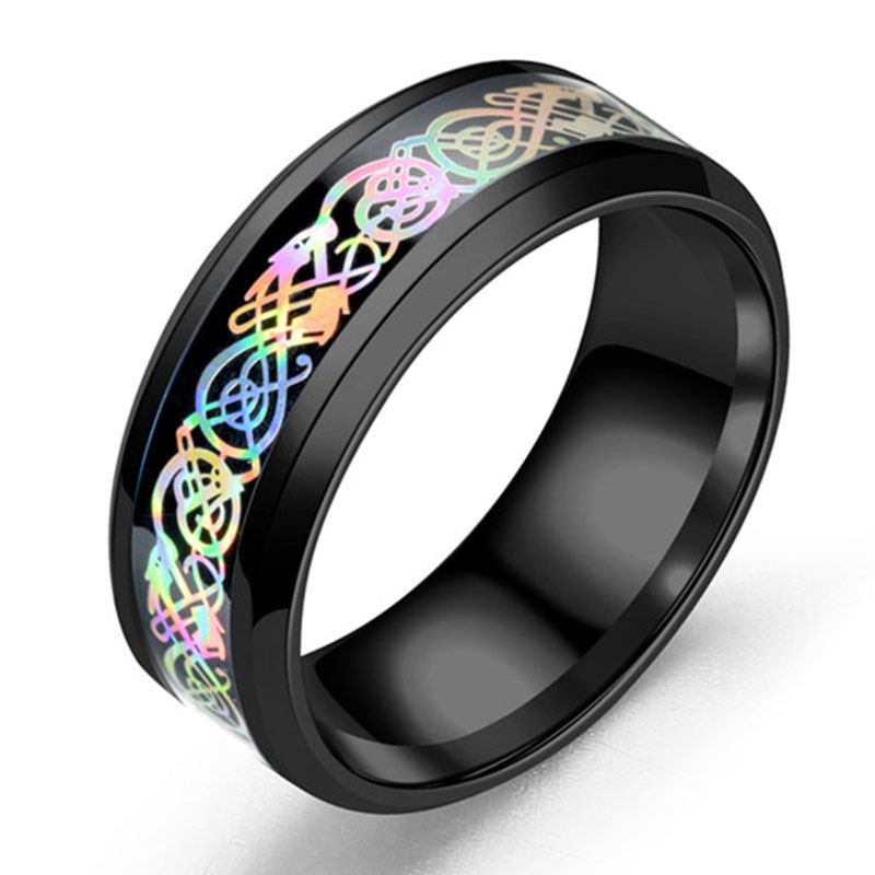 CAXXBY Brand stainless steel Colorful Dragon ring