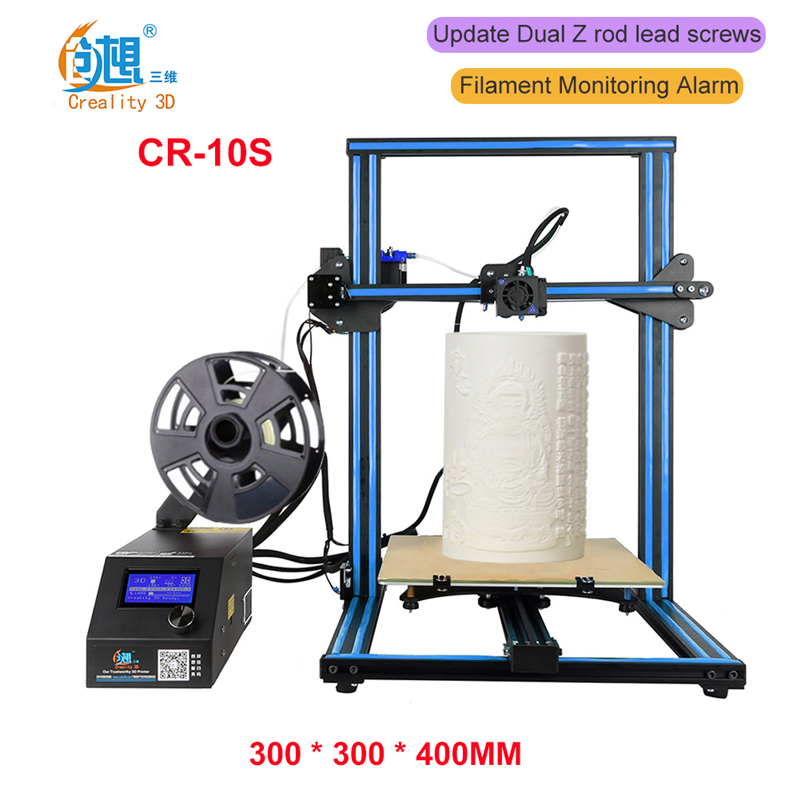 New 3D Printer Creality 3D CR-10S ,Dual-Leading-screws Z Rod Filament Sensor/Detect Resume Power Off Optional 3D Printer DIY Kit karen cvitkovich leading across new borders