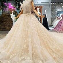 Vestidos de boda baratos AIJINGYU, compra de vestido Sexy, compromiso nupcial, ropa de novia de Egipto, vestidos de boda blancos con perlas