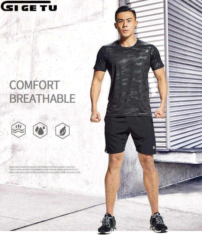 À séchage rapide respirant Compression Survêtement Pour Hommes Fitness Gym T-shirt Shorts Costumes Hommes formation de Costume De Sport usure