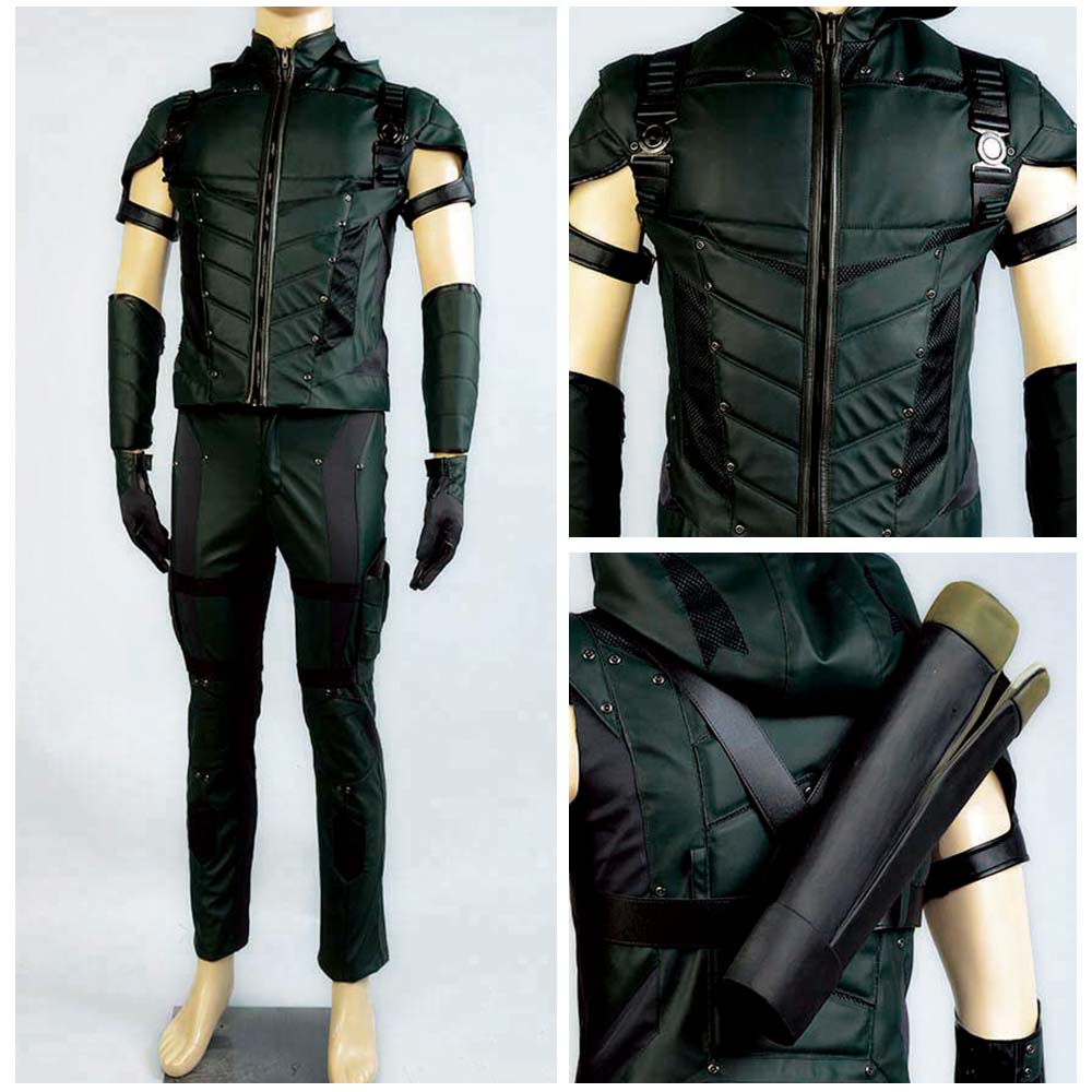 Green Arrow Season 4 Cosplay Costume Superhero Oliver Queen Cosplay Costume Carnival Halloween Costume For Adult Men