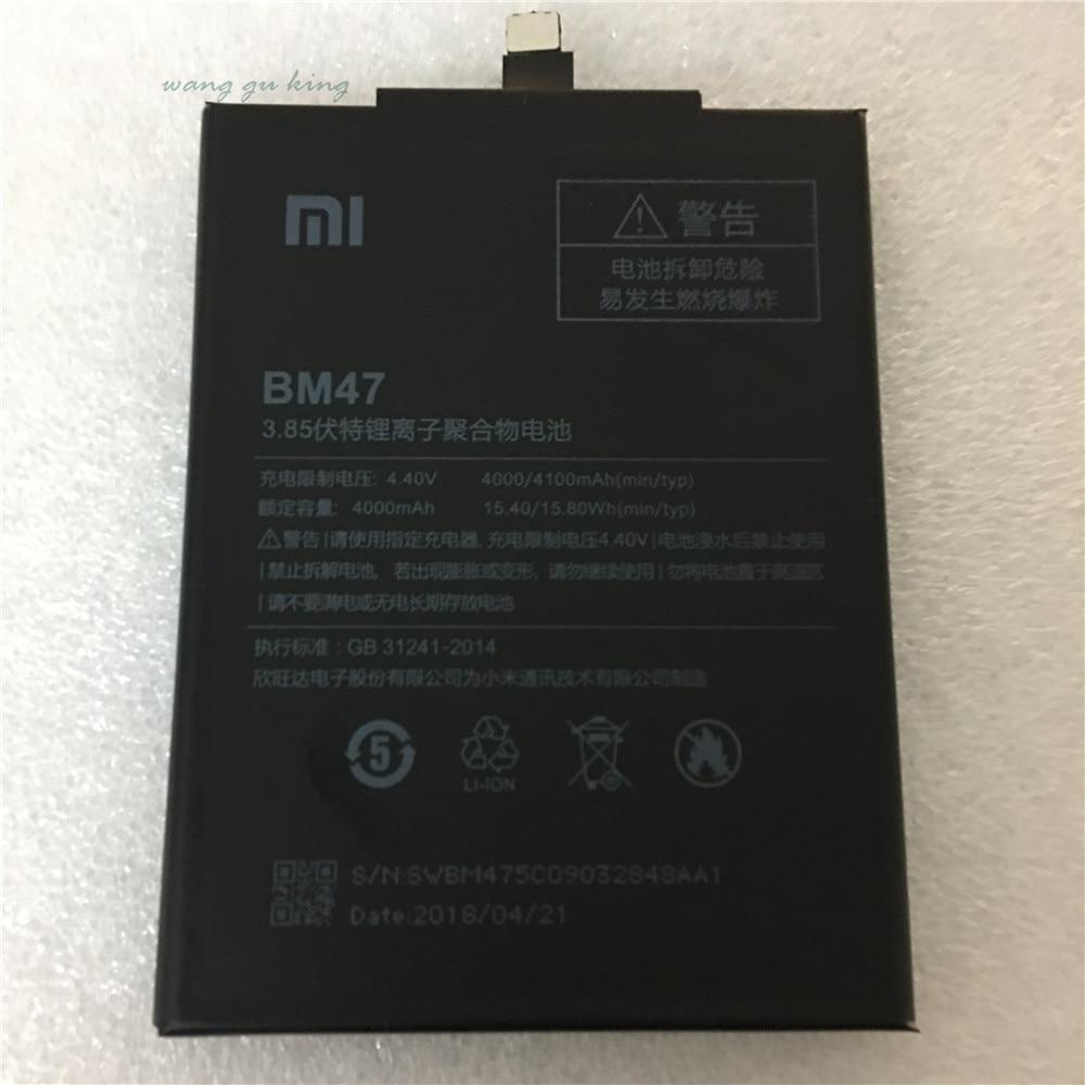 2018 neue 100% Original 4000 mah BM47 Batterie Für Xiaomi Redmi 3 s Redmi 3X Redmi 4X Hongmi 3 s redrice Hongmi 3 Bateria Baterie
