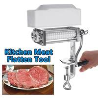 Aluminum Meat Tenderizer Kitchen Pork Beef Steak Heavy Duty Clamp Machine Flatten Tool Meat Poultry Tools Kitchen Accessories