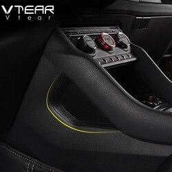 Vtear For Skoda Kodiaq Accessories car interior Gap Plate storage box Central control cover parts car-styling decoration trim