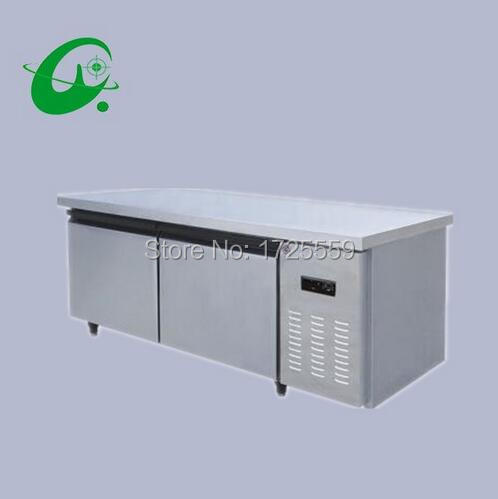 Single Temperature Refrigeration Refrigerator 1.5m Kitchen Freezing Storage Frezzer Workbench