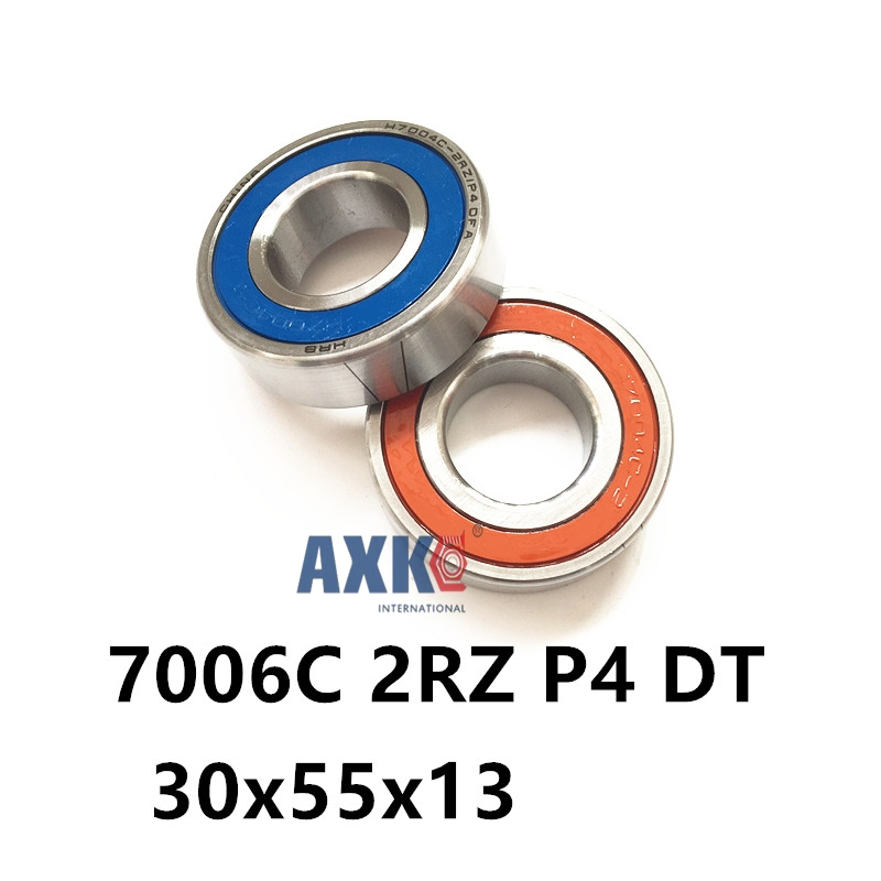 2018 Real Rolamentos 1 Pair Axk 7006 7006c 2rz P4 Dt 30x55x13 30x55x26 Sealed Angular Contact Bearings Speed Spindle Cnc Abec-7 2018 hot sale time limited steel rolamentos 6821 2rs abec 1 105x130x13mm metric thin section bearings 61821 rs 6821rs