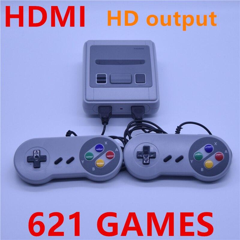 HDMI супер мини ТВ familie игровой консоли HDMI 8 бит Ретро Видео игровой консоли ingebouwde 621 игр портативные игровые speler