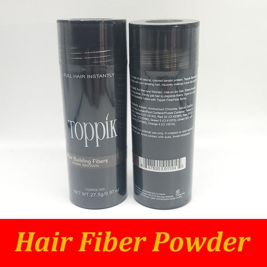 27.5g Black Toppik Hair Building Fibers & Thinning Hair Solutions Men Women Natural Keratin Full Hair Instantly