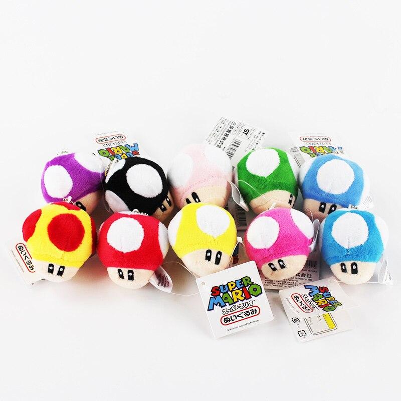 6 cm 50 sztuk/partia Super Mario Bros zabawki pluszowe brelok do pieczenia wisiorki pluszowe nadziewane miękka lalka Kawaii zabawki darmowa wysyłka w Filmy i telewizja od Zabawki i hobby na  Grupa 1