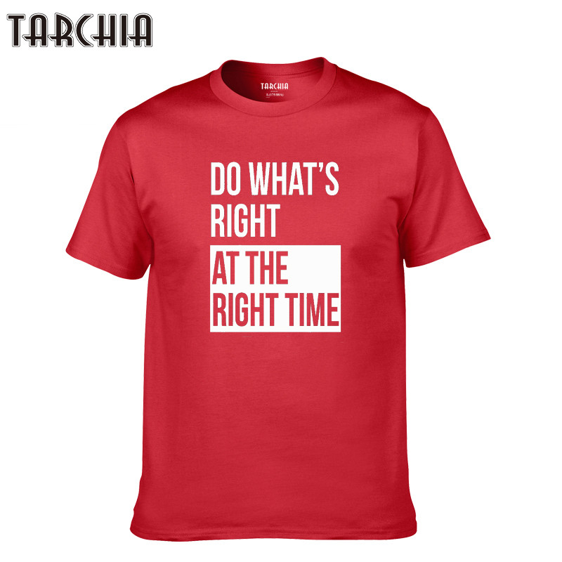 TARCHIA 2019 t shirt plus number cotton tees boy t-shirt tops homme do what's right at the richt casual New men short sleeve