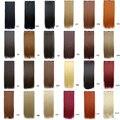 """Envío gratis 24 """" ( 60 cm ) 1 unids sola pieza establece 100 g mujeres lacio largo del pelo sintético Clip en extensiones del pelo 21 colores"""
