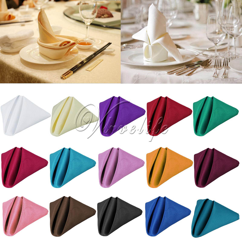 100pcs 30x30 cm Wedding Table Napkin Linen Napkin Polyester Handkerchief Cloth for Diner Party Xmas Supply