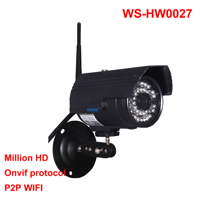 Wanscam HW0027 Outdoor Bullet SD Card Slot Waterproof ONVIF IP Camera wanscam hot sale model 720p hd outdoor waterproof ip camera bullet camera with 1megapixel support sd card recording