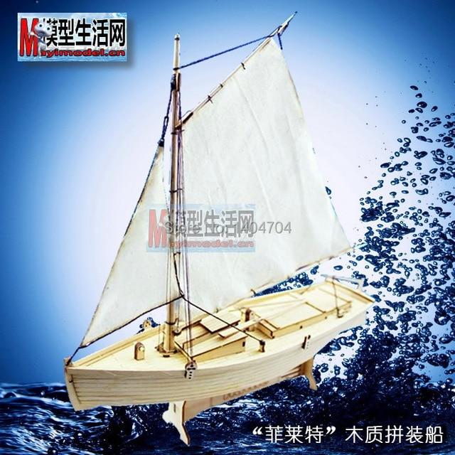US $12 86 8% OFF|NIDALE model Laser cut Wooden Fishing boat model kit Scale  1/30
