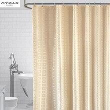 XYZLS מודרני מקלחת וילון עמיד למים טחב הוכחה אמבטיה פוליאסטר כיכר רשת אמבטיה וילונות עם ווים