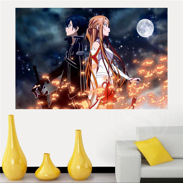 Custom Sword Art Online Anime Poster Home Decor