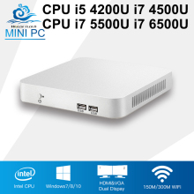 Mini PC Intel Core CPU i5 4200U i7 4500U Windows 10 Linux CPU i7 5500U 6500U Mini Office Computer Nettop 8GB RAM HDMI Gaming PC