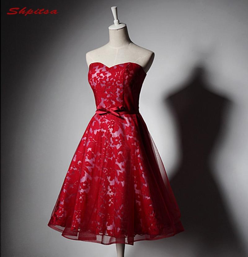 Red Short Lace   Cocktail     Dresses   for Women Graduation   Dresses   Little Party Coctail Prom   Dresses   vestidos de coctel