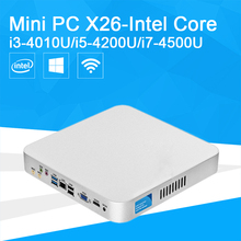 Mini PC Core i3 4010U i5 4200U i7 4500U 7500U Dual Cores 3.0Ghz Windows 10 Mini Desktop Computer Office Home PC Cooling Fan(China (Mainland))