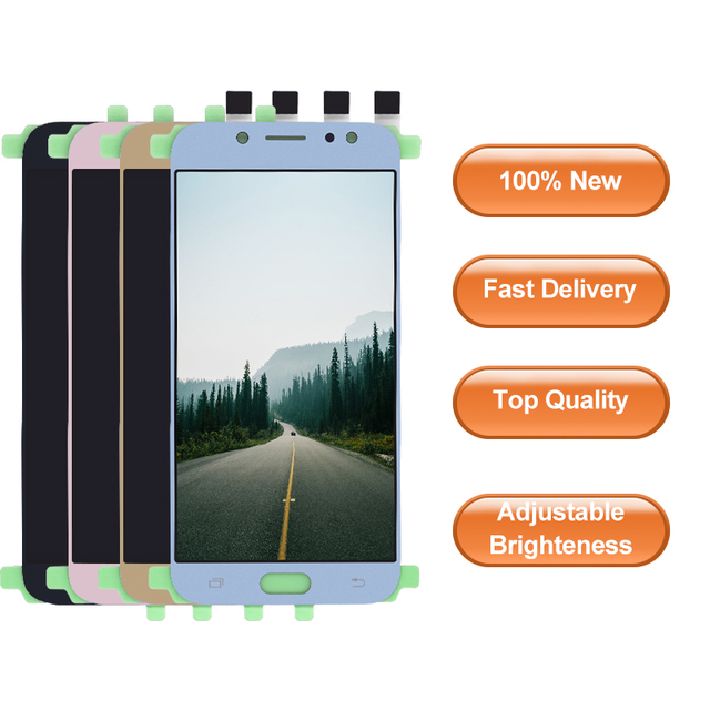 Nuevo probado para Samsung Galaxy J7 Pro 2017 J730 J730F pantalla LCD con montaje de digitalizador de pantalla táctil J7 Pro 2017 j730 J730F LCD