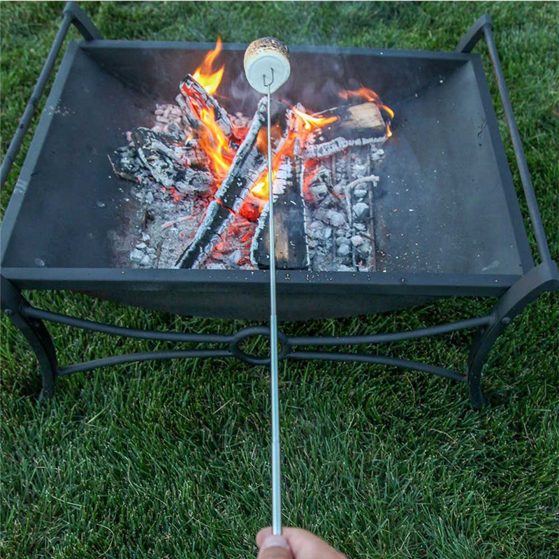 Camping Fire Pit >> Us 1 81 30 Off Camping Campfire Camping Campfire Fire Pit Accessories Hot Dog Telescoping Roasting Fork Sticks Skewers Bbq Forks Random Color In