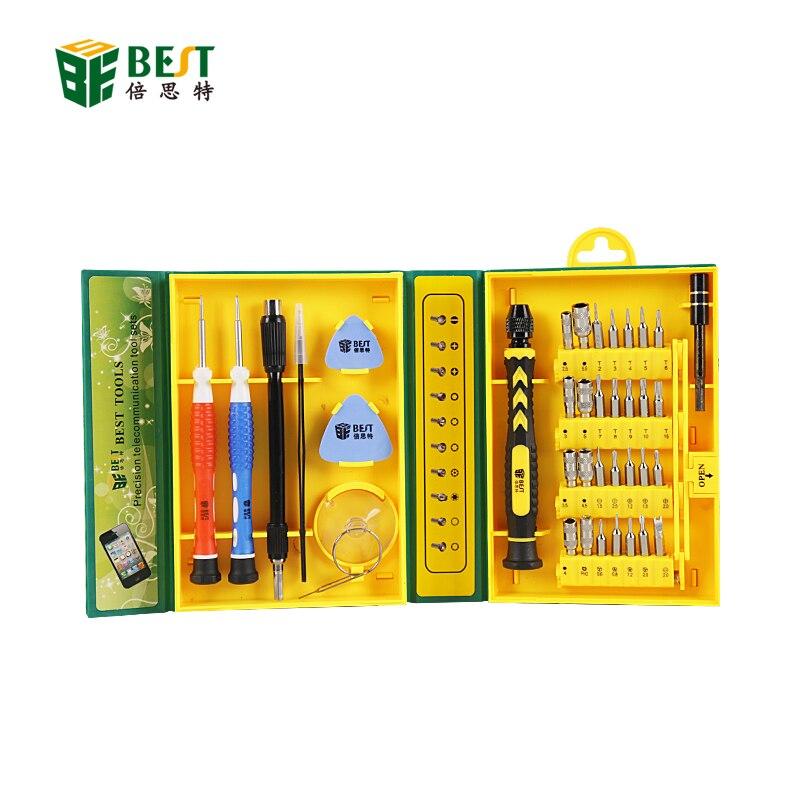 BST-8921 38 in 1 set di cacciaviti di precisione multiuso kit di riparazione per iPhone / laptop / smartphone / orologio con custodia