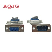 10pcs DB15 3Rows Parallel Port 15 Pin D Sub Male 15 Way Wire Solder Connector DB15 Socket Plug VGA Adapter DB15 Female  AQJG
