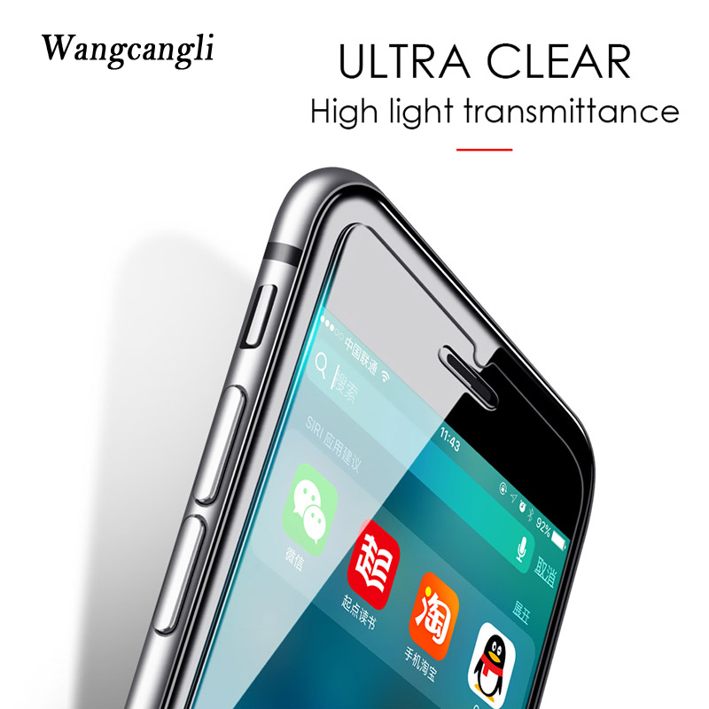 wangcangli Protective Tempered Glass on the For iPhone 6s 6 Plus 7 8 Plus Screen Protectors For iPhone 6 5s 5 SE 4 Accessories