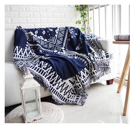 Mother & Kids Supply Baby Blanket Knitted Plaid Cotton Knitting Classical Wave Stripe Simple Air-condition Sofa Bedding Blanket & Swaddling
