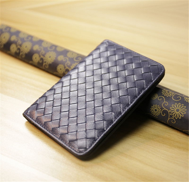 ALAVCHNV Multifunctional Sheepskin Weaving Passport Bag Men s Wallets Ultra thin tide HY142989