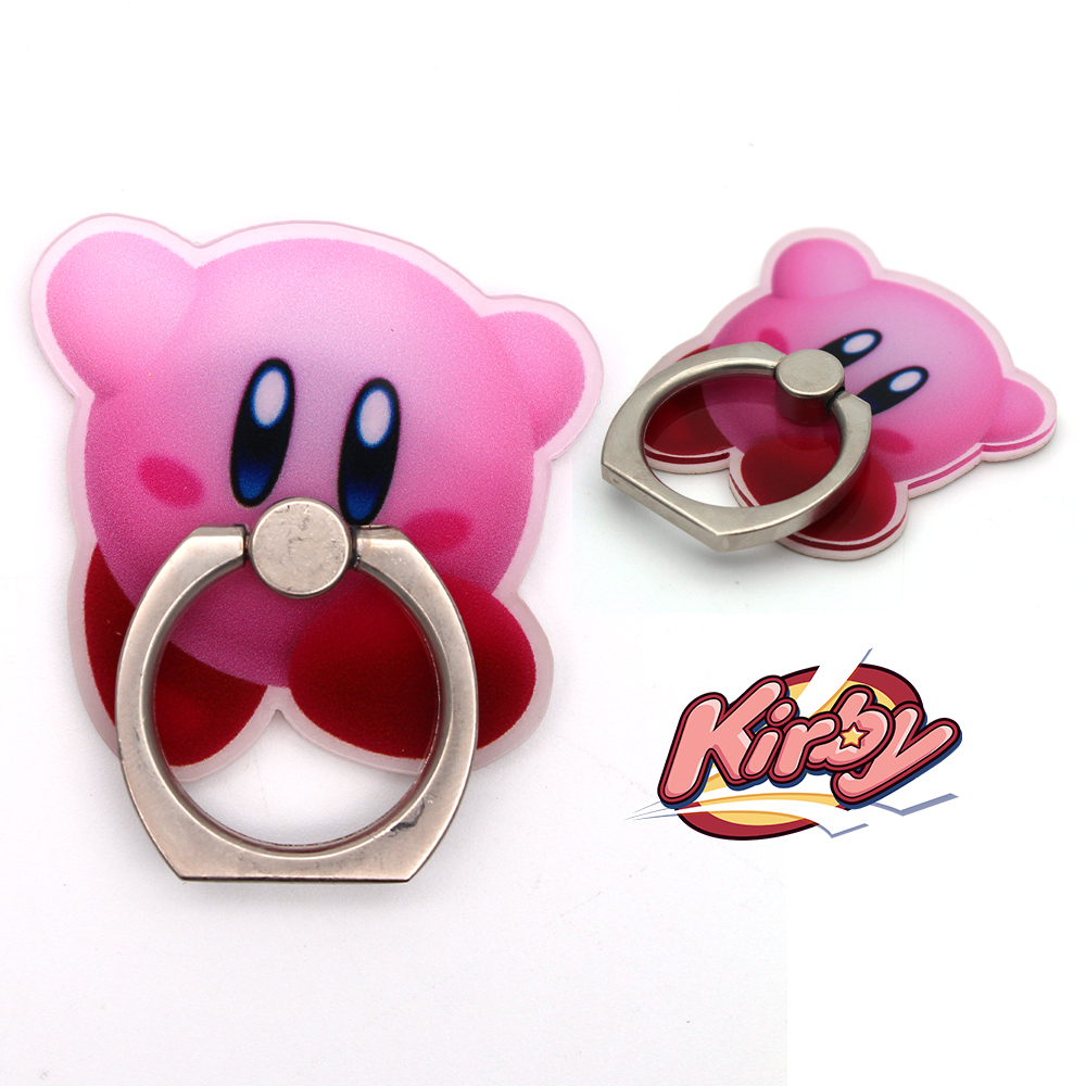 OHCOMICS Otaku Anime Kirby 360 Degrees Square Cartoon Ring Stand Mount Holder Mobile Phone Paste Stents Decor Gift