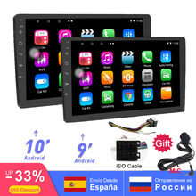 9 Inch/10 Inch Universal 2din Android 8.1 Car Radio Quad Core 1080P touchscreen GPS Bluetooth WIFI RDS/AM/FM SWC USB Mirror Link