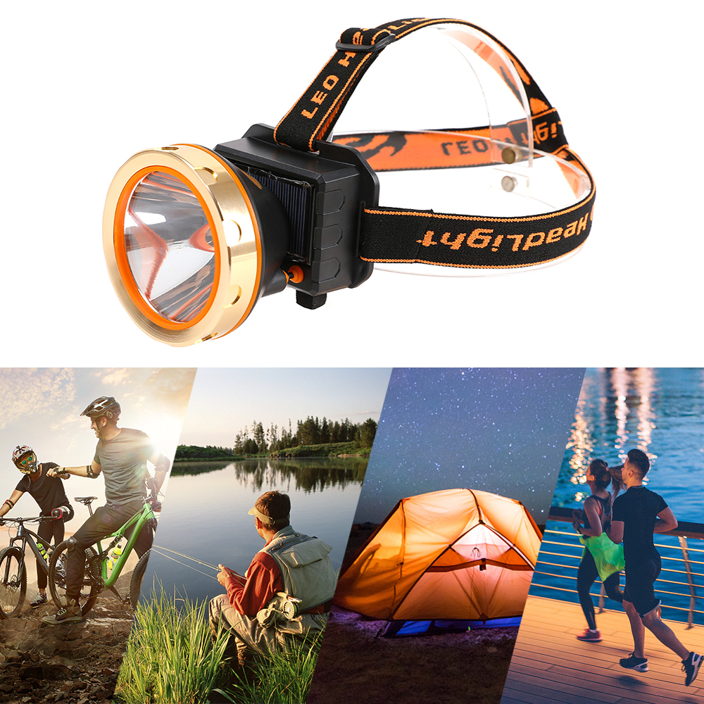 Image 5 - USB Solar Rechargeable LED Headlamp Flashlight Headlight with Emergency Power Bank Head Light 90 Degree Swivel Head for Camping-in Outdoor Tools from Sports & Entertainment