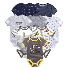 kiddiezoom 8 PCS/lot Newborn baby 100% Cotton short Sleeve