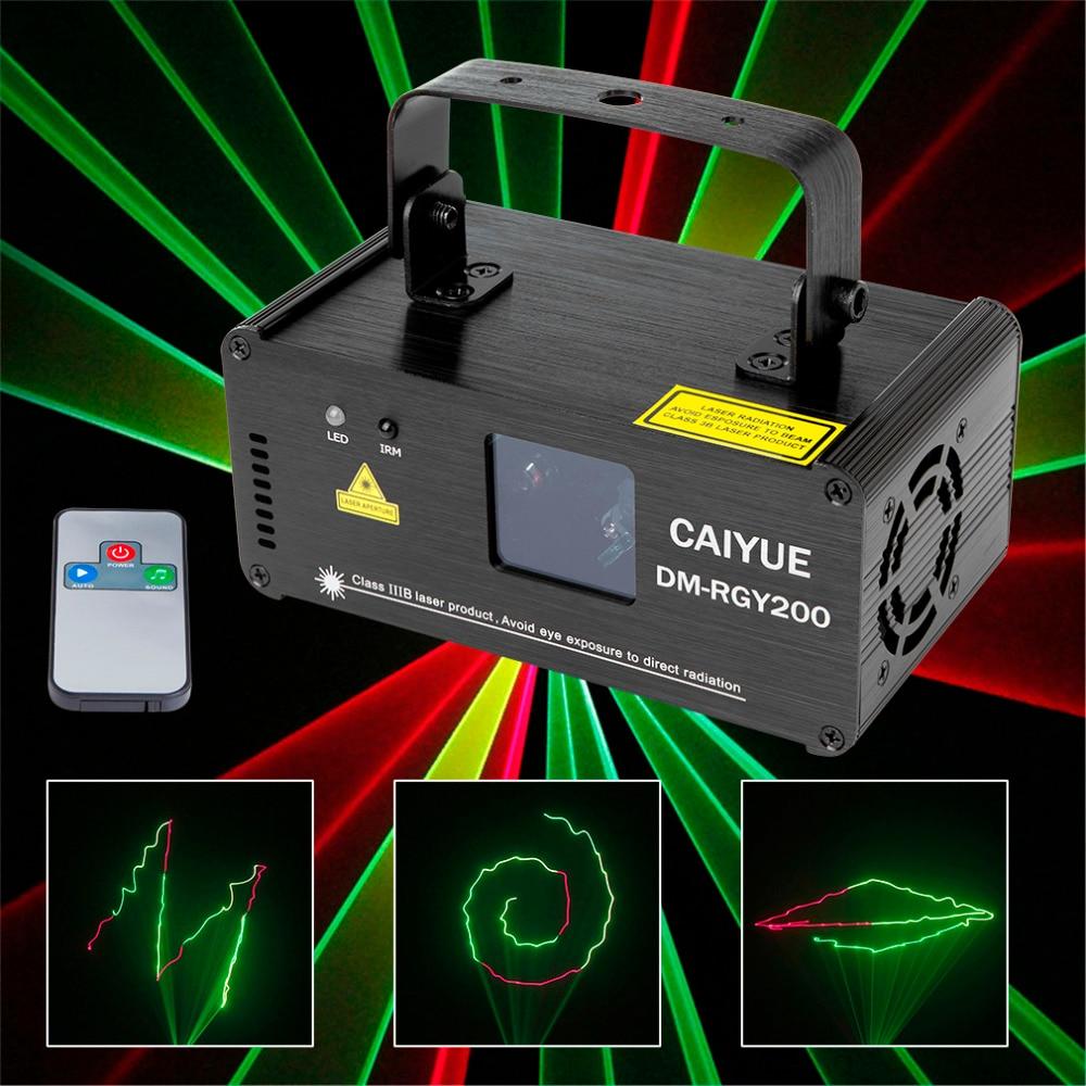 Controlador DJ Efecto Luz láser Remoto DMX512 Amarillo Rojo Verde LED Escenario Iluminación Escáner Dance Disco Party Show Lámpara de proyector