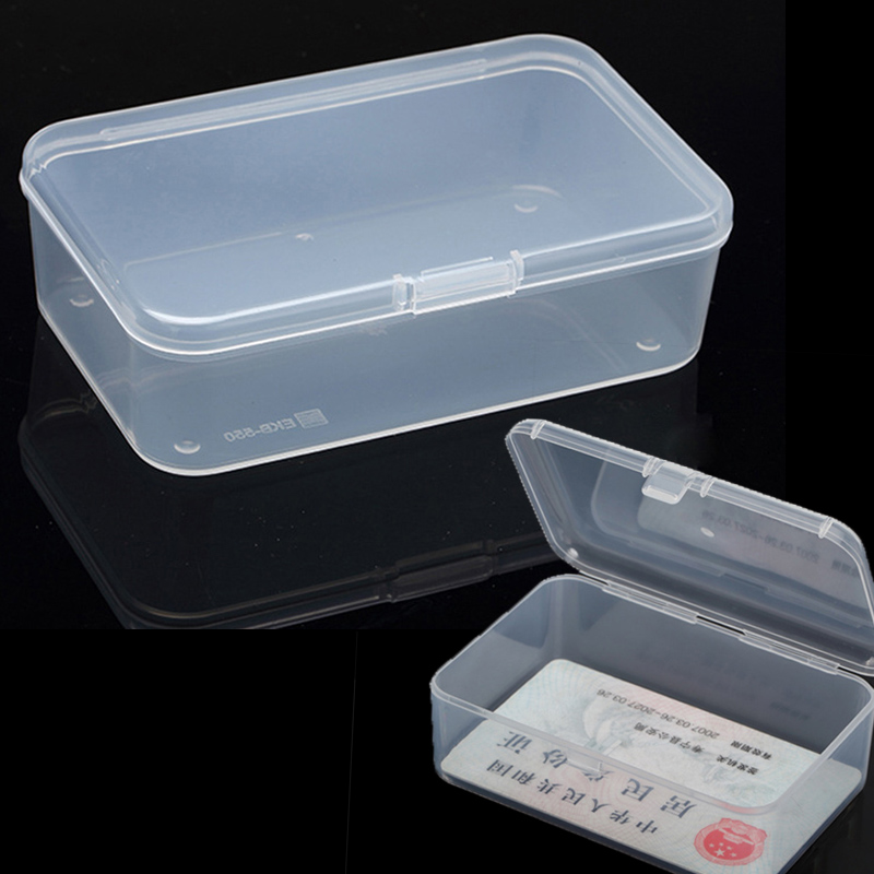 Transparent Plastic Toys Organizer Jewelry Storage Boxes Rectangle With Cover Hardware Parts Multipurpose Storage Box