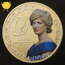 Five Pounds 999 Gold Commemorative Coin Diana Princess of Wales Coins Collectibles Coins of British Diana Spencer princess diana biography