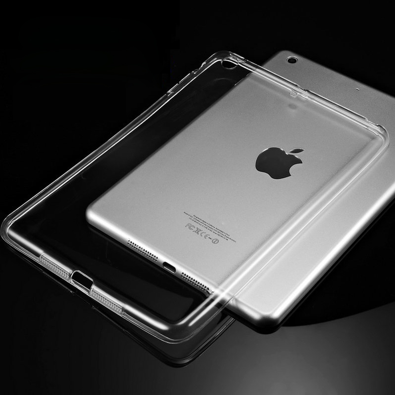 Silicon Case For iPad Air 2 Air 1 Clear Transparent Case For iPad 2 3 For iPad 4 Mini Mini 4 Soft TPU Back Cover Tablet Case for ipad air 1 2 pro9 7 10 5 soft tpu tablet back case silicone transparent cover for ipad 234 mini 123 crystal protective capa