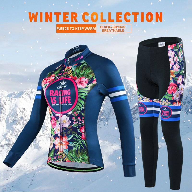 Зима Новый Cheji Номер Пунк Флис На Велосипеде Джерси Устанавливает Женщин Про Длинные Велоспорт Одежда Велосипед Одежда Высокого Качества Шкафчики Для Одежды Китай