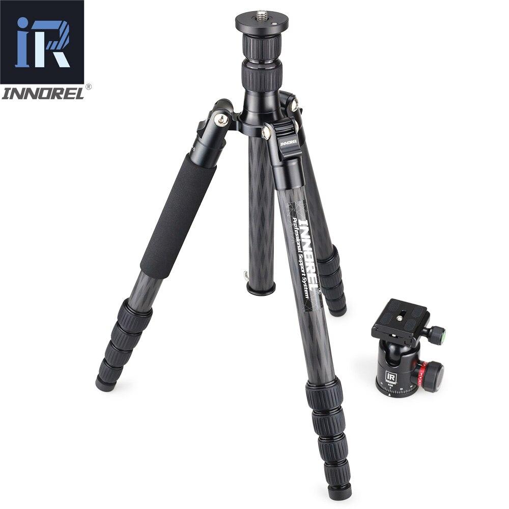 RT55C en fiber de carbone Professionnel trépied pour appareil photo numérique tripode Approprié pour voyage Top qualité série caméra stand 161 cm max - 3