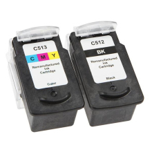 vilaxh 2pcs Black & Color Compatible PG 512 CL 513 ink cartridge for Canon PG-512 CL-513 Pixma MX410 MX420 MP492 MP495 MP499